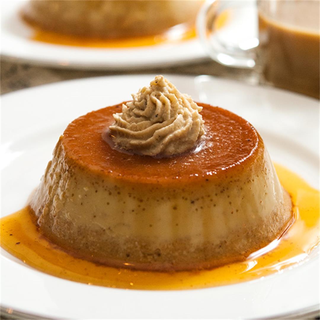 Pumpkin Flan with Chai Whipped Cream