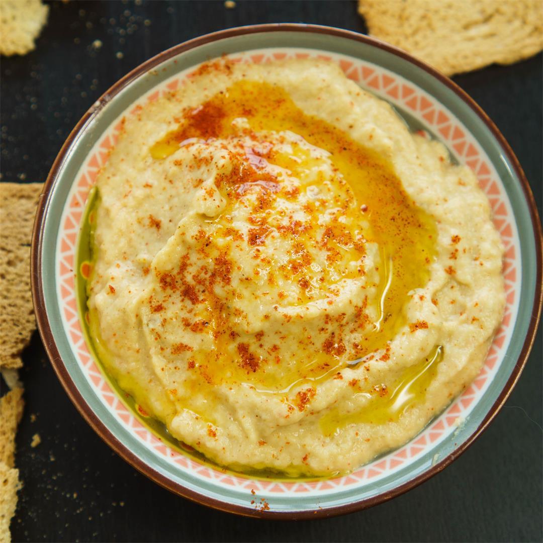 Microwave Eggplant Hummus