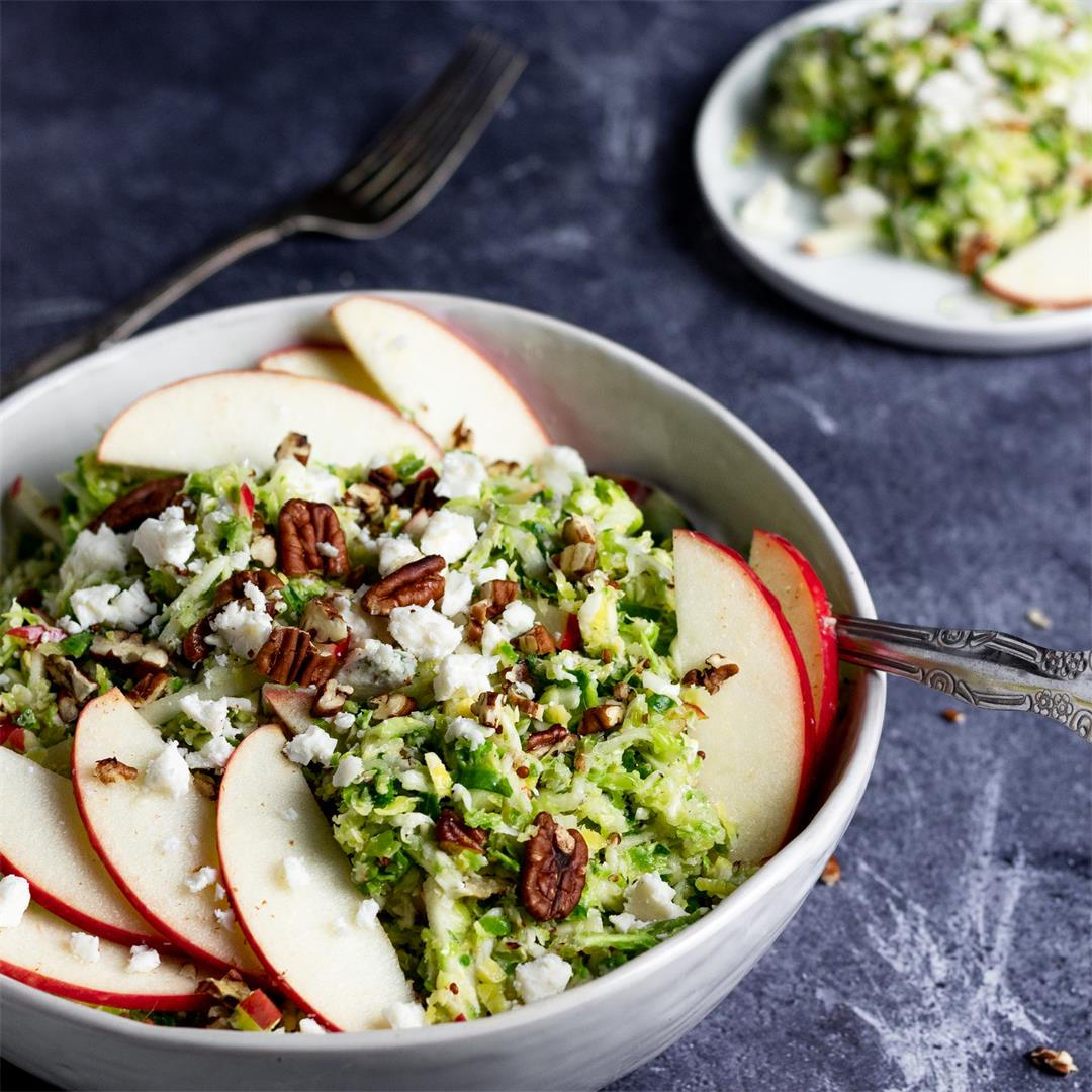 Shaved Brussel Sprout and Apple Salad