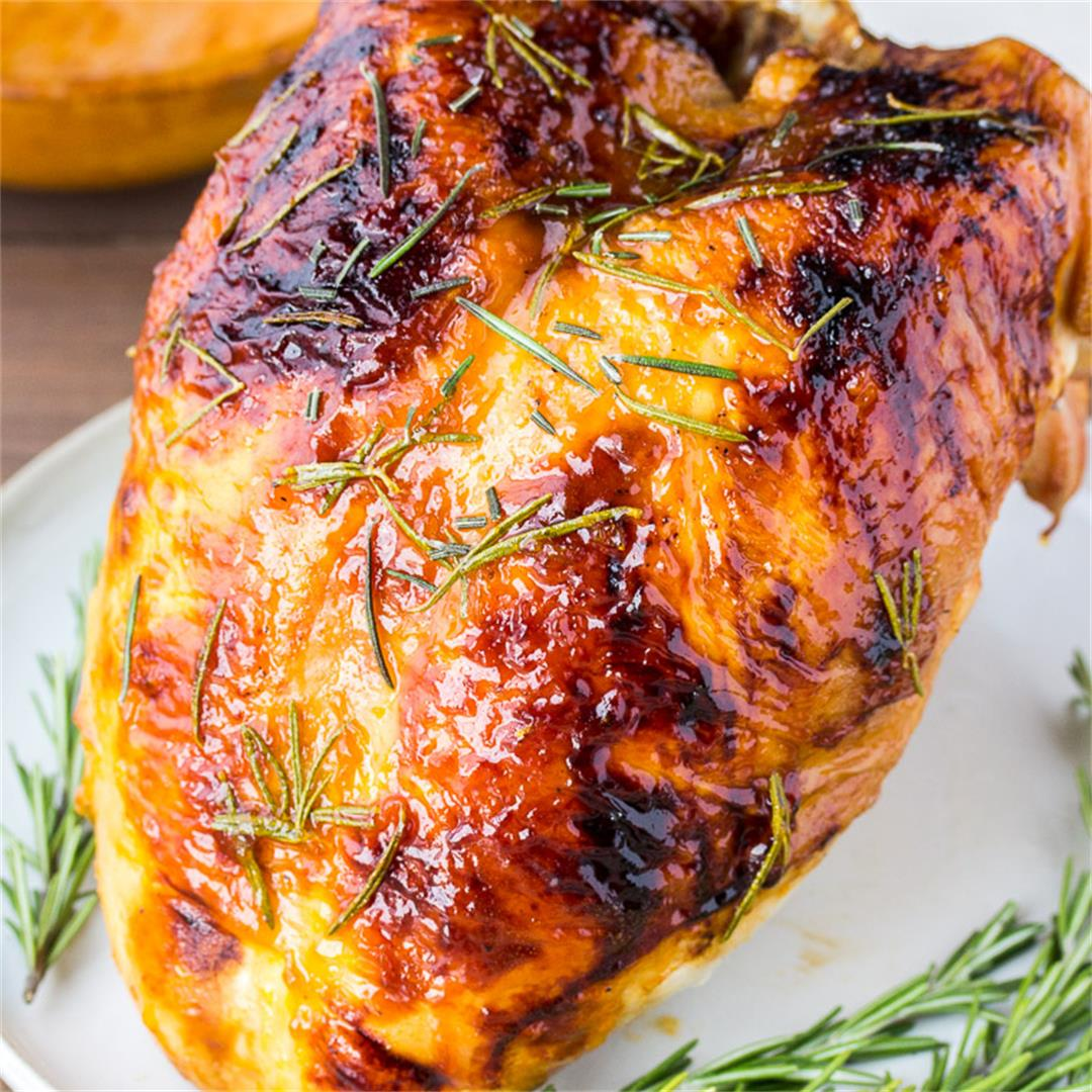 Rosemary Apricot Glazed Turkey