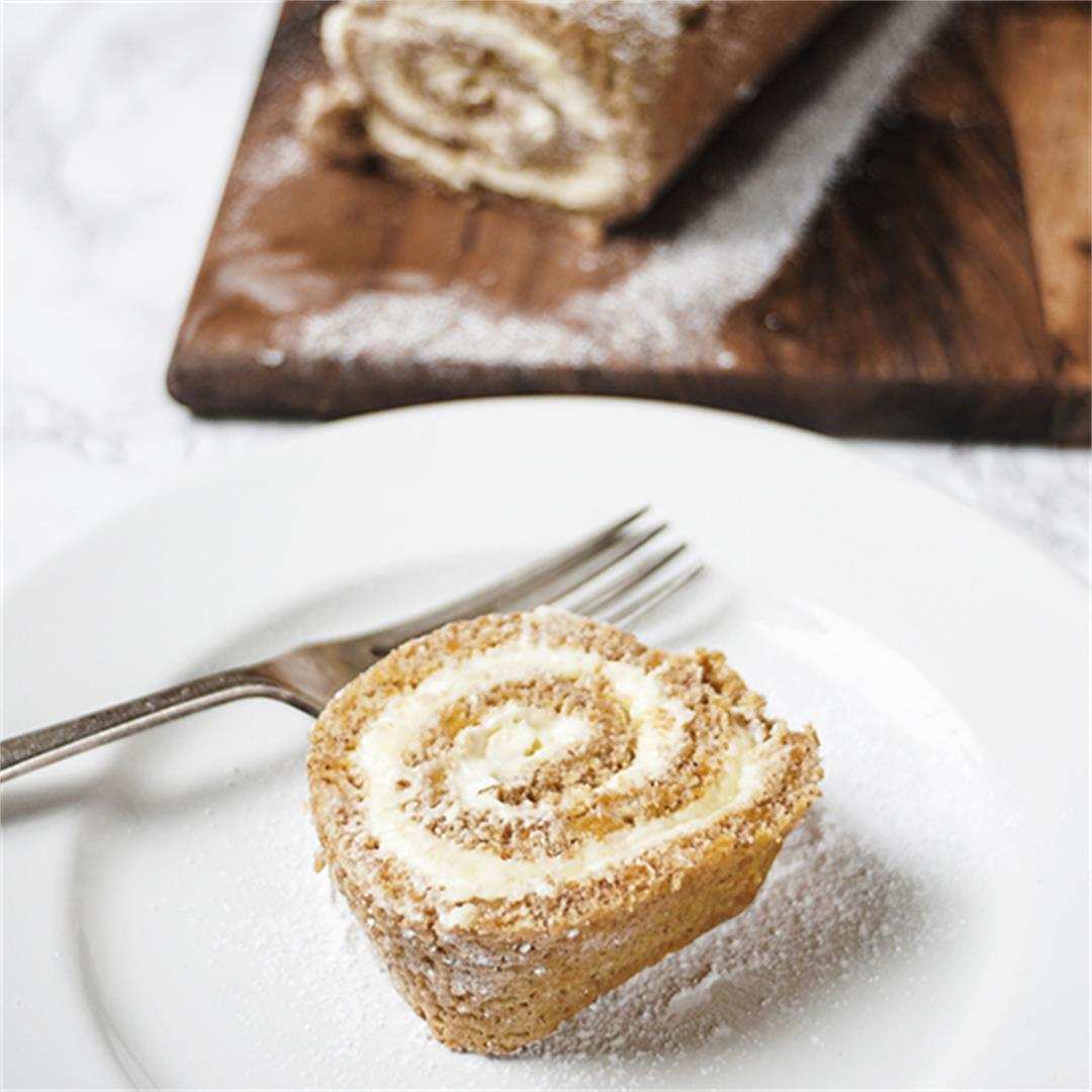 Autumn Pumpkin Swiss Roll