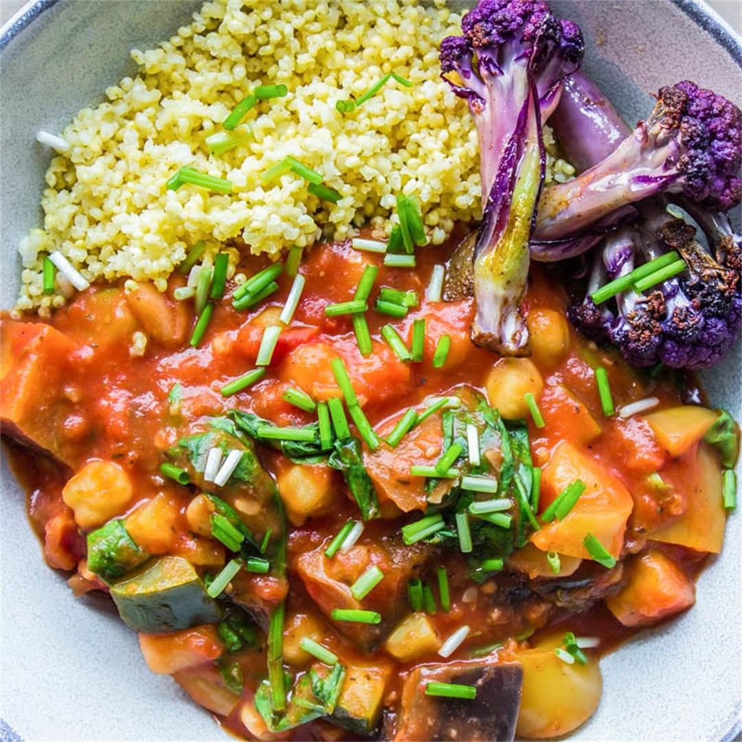 Easy Eggplant and Chickpea Stew