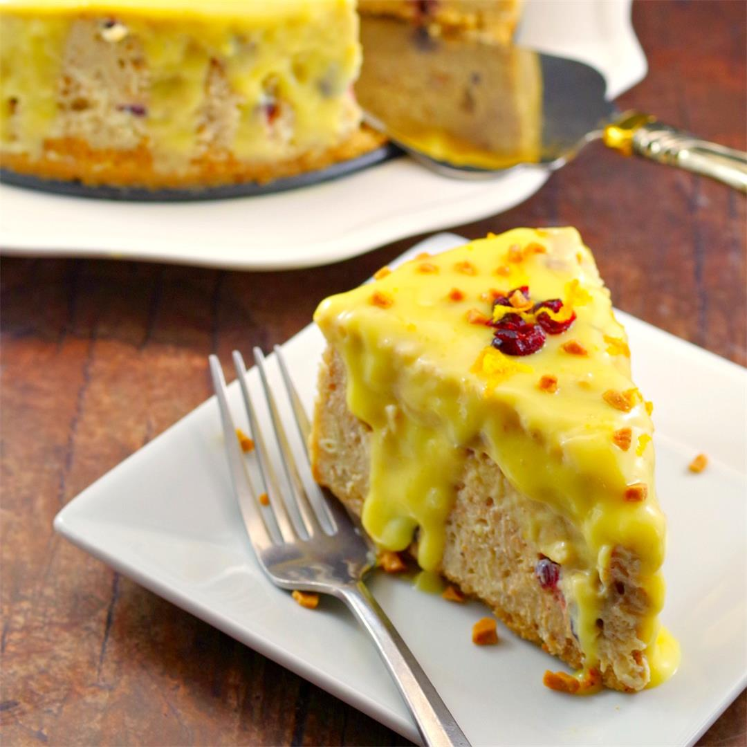 Cranberry Bread Pudding Holiday Cheesecake