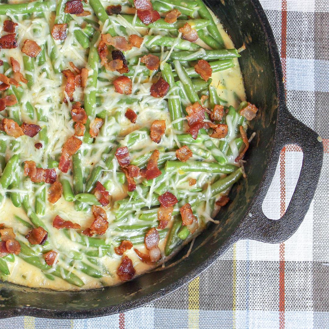 Green Bean and Bacon Au Gratin