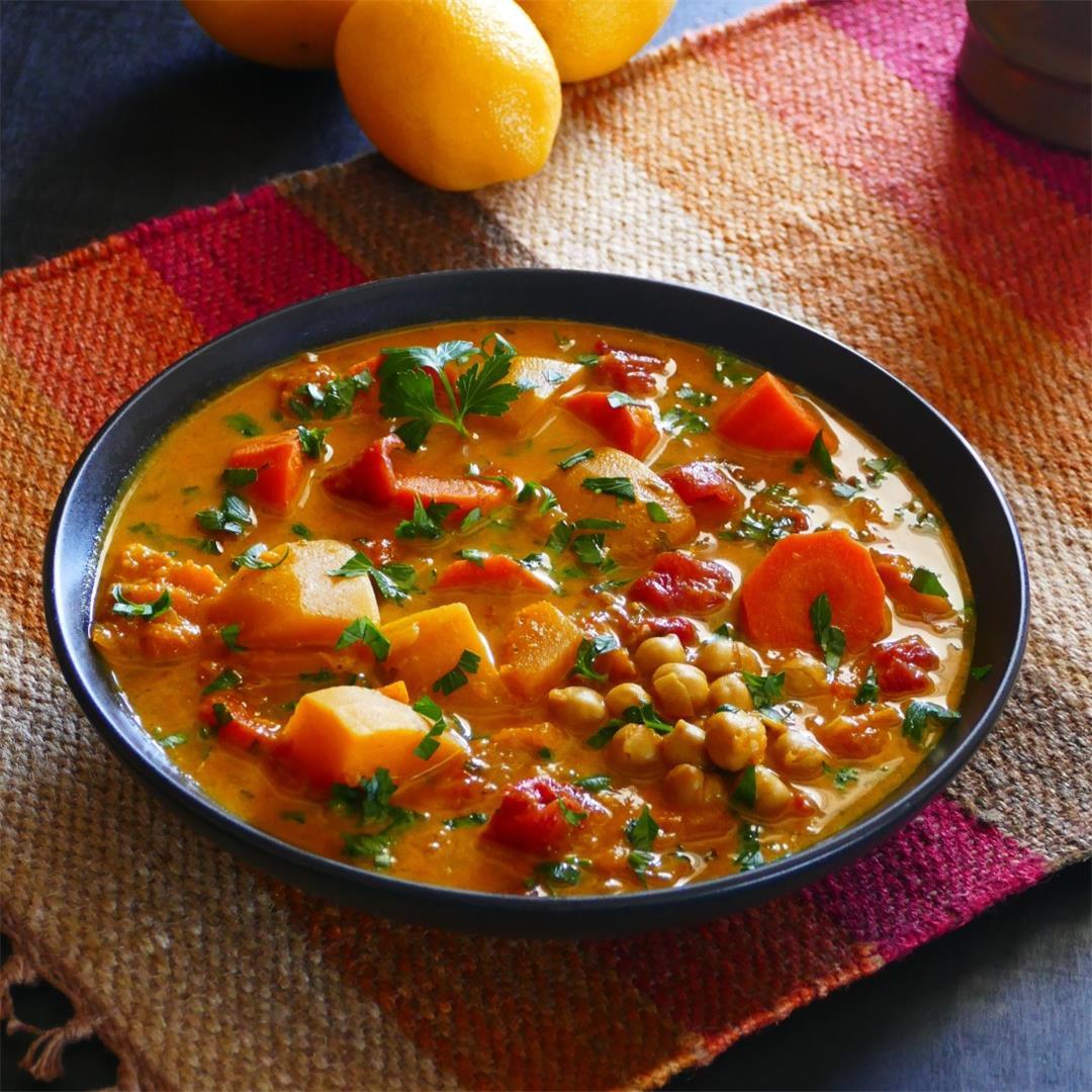 Vegetarian Instant Pot Moroccan Stew