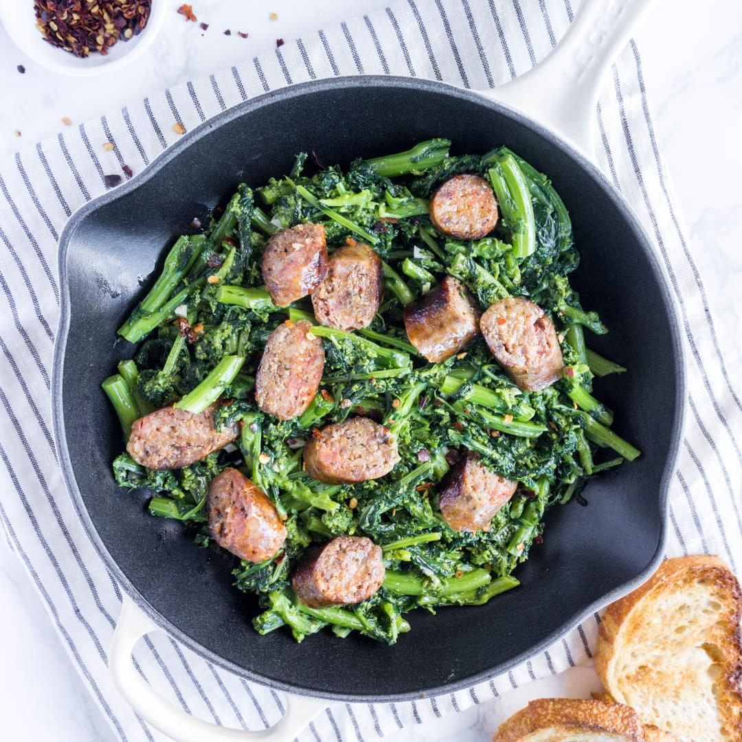 Italian sausage and rapini