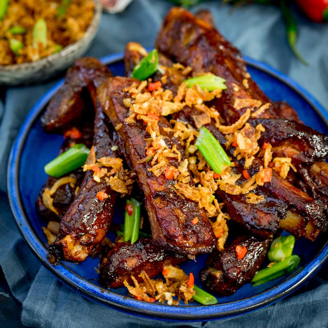 Oven Baked Asian Ribs