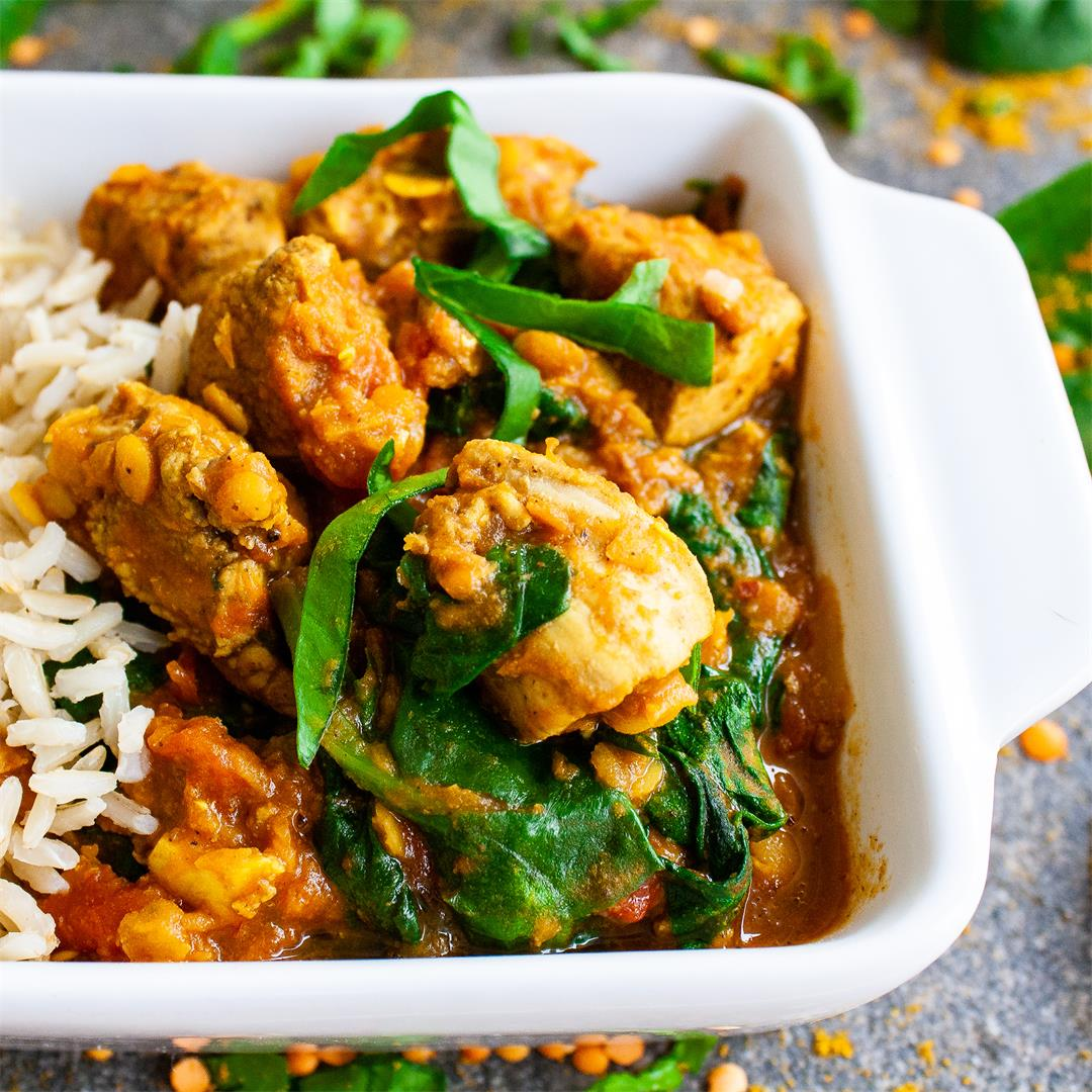 Dairy-free Healthy and Simple Chicken Saag