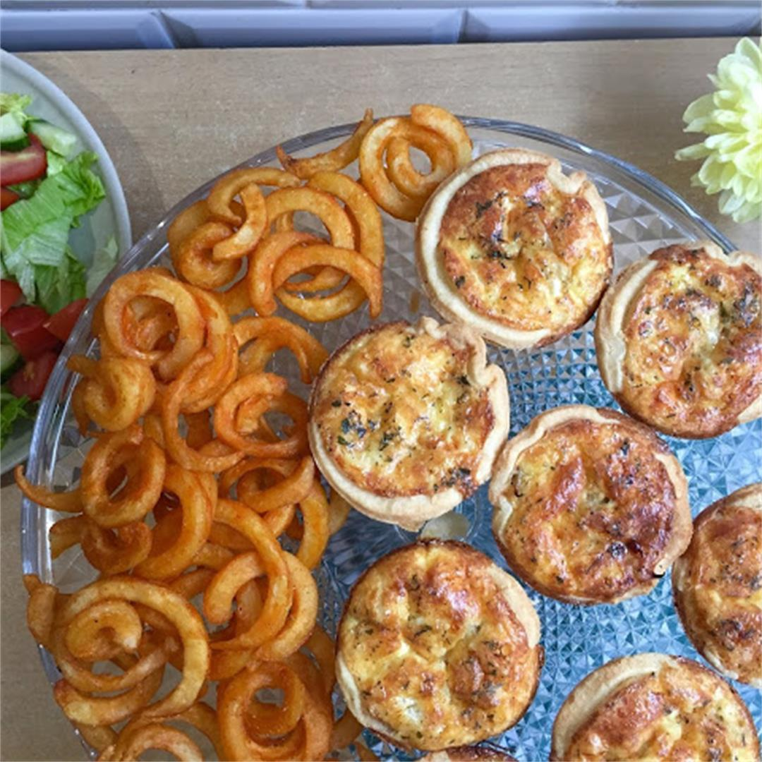 Mini Cheese and Caramelised Onion Quiche