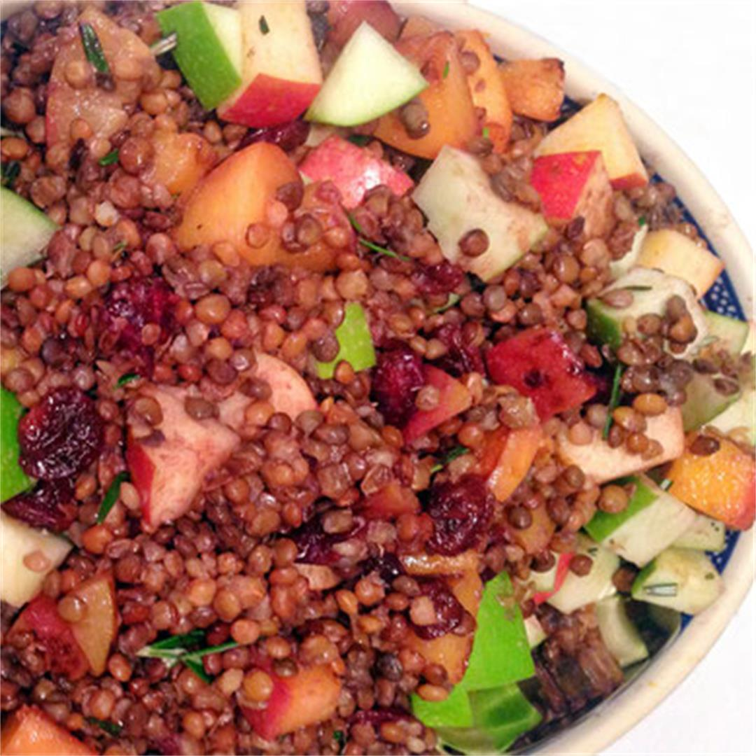 Sweet Cranberry and Apple Lentils