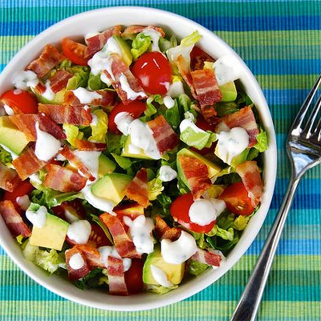 Bacon, Lettuce, Tomato & Avocado Salad with Buttermilk Ranch