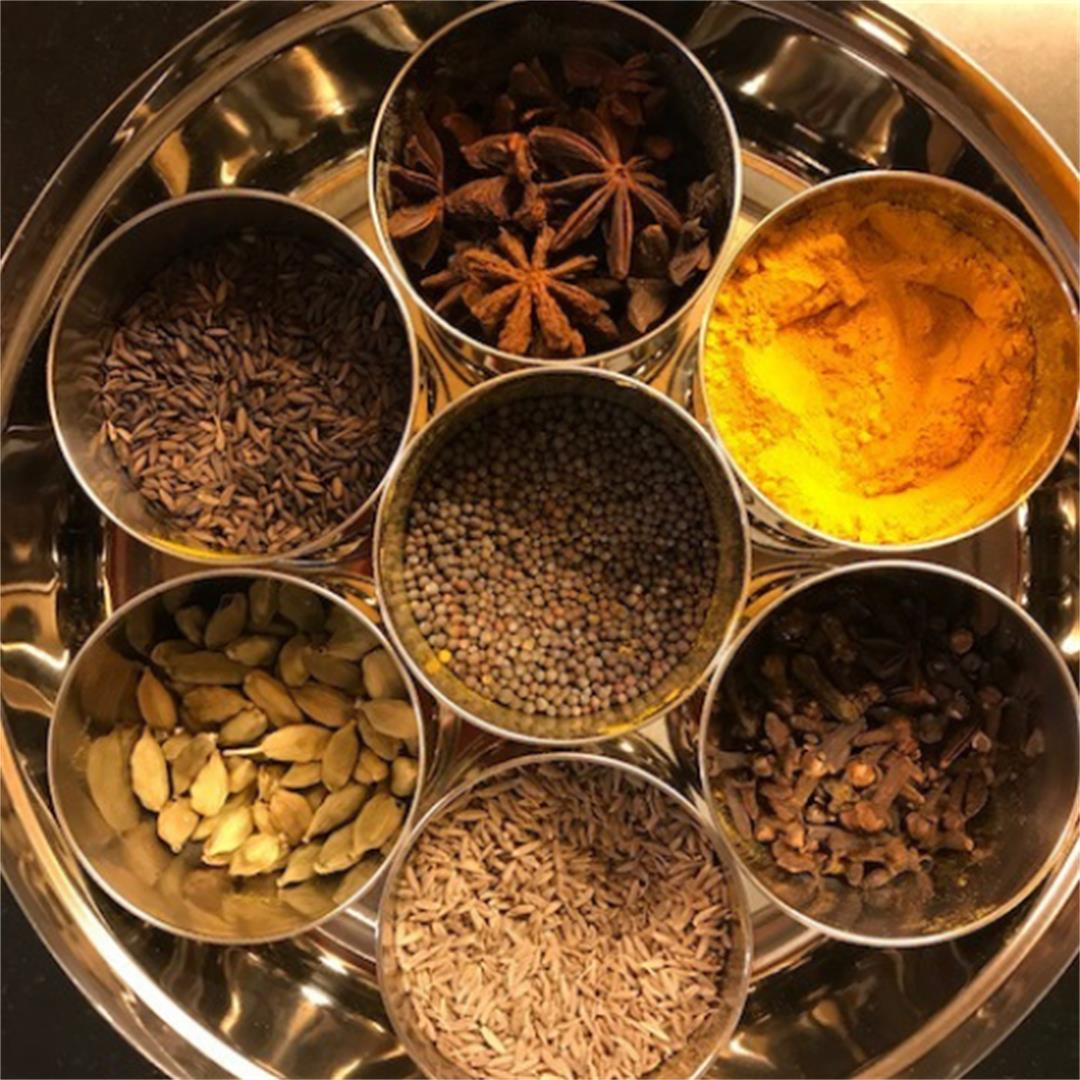 A brief guide of commonly used Indian spices & how to use them