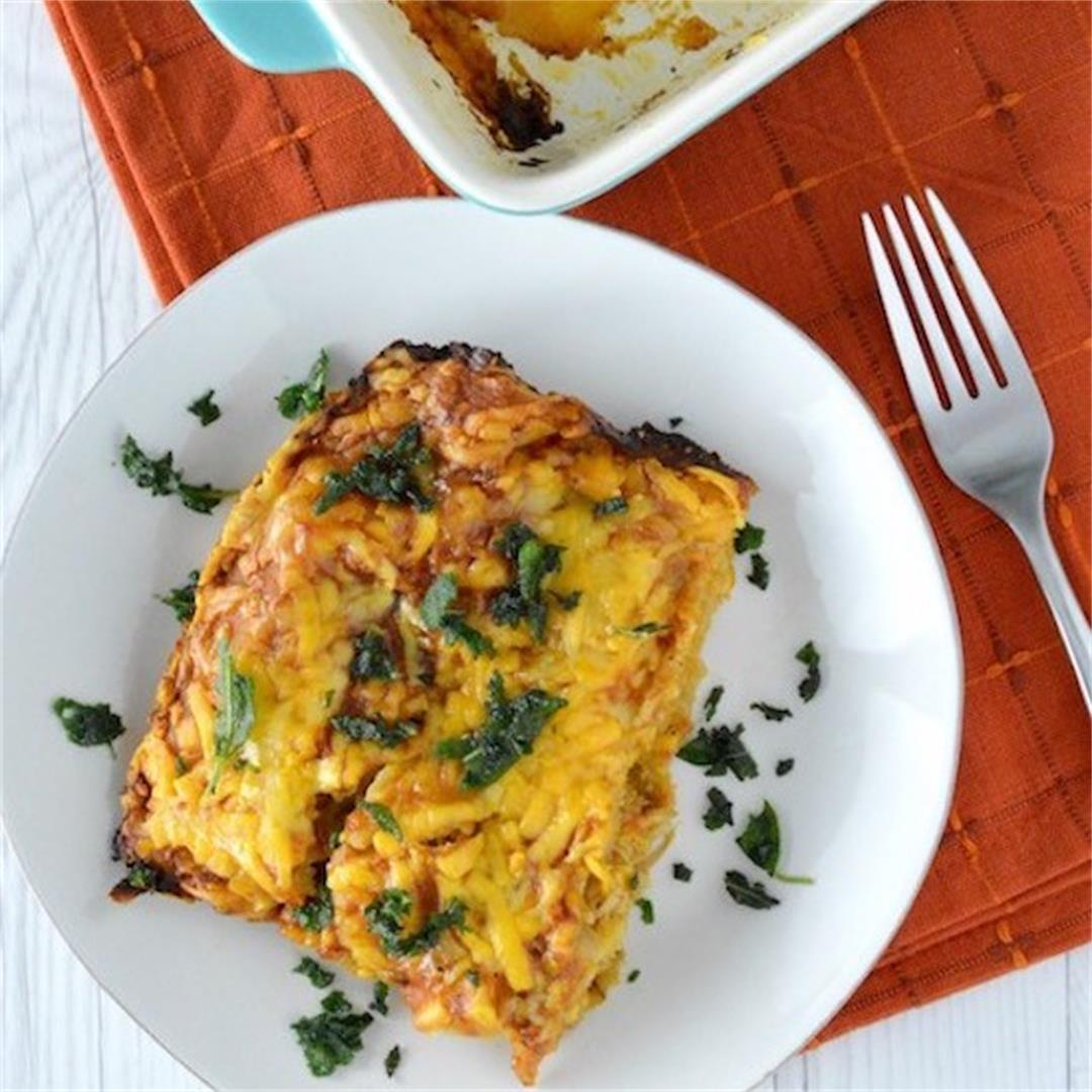 Turkey and Butternut Squash Enchiladas