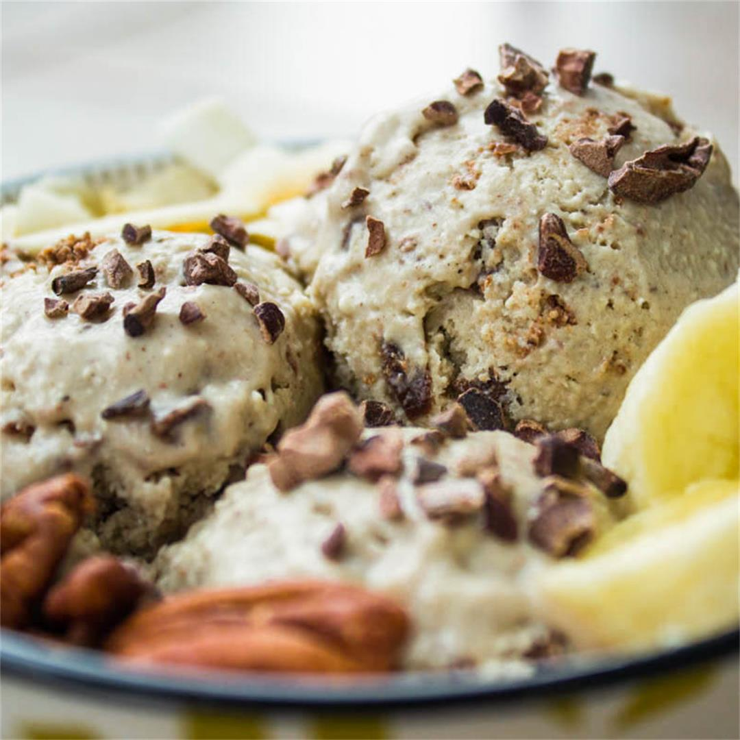 Banana Chocolate Fudge Ice Cream (vegan + gluten-free)