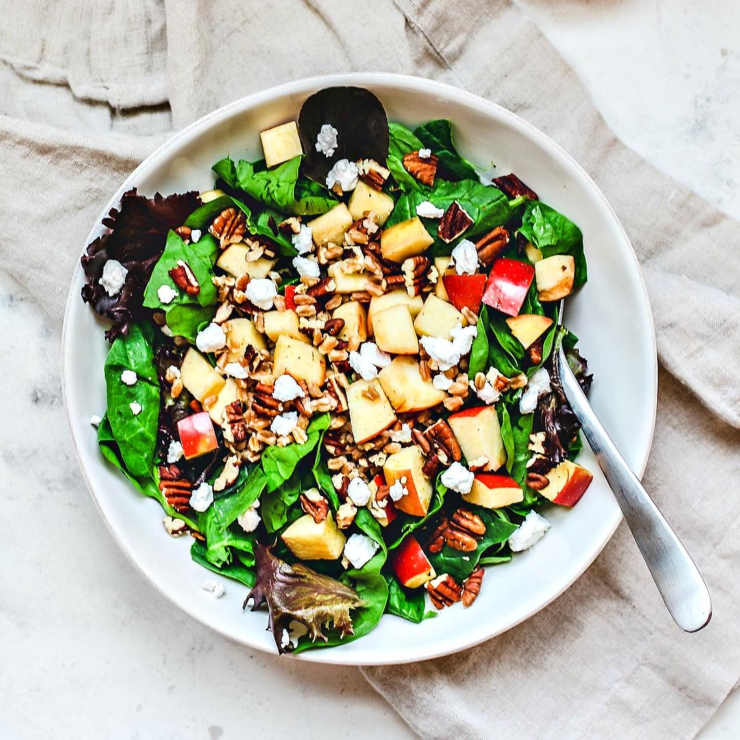 Apple Pecan and Farro Salad with Maple Vinaigrette