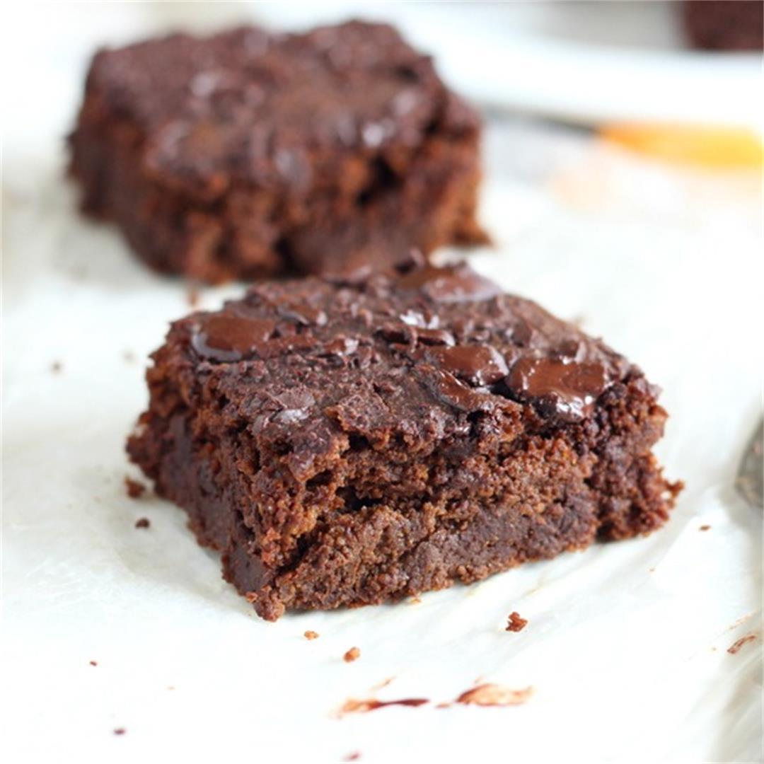 Healthy, Low Sugar Pumpkin Brownies