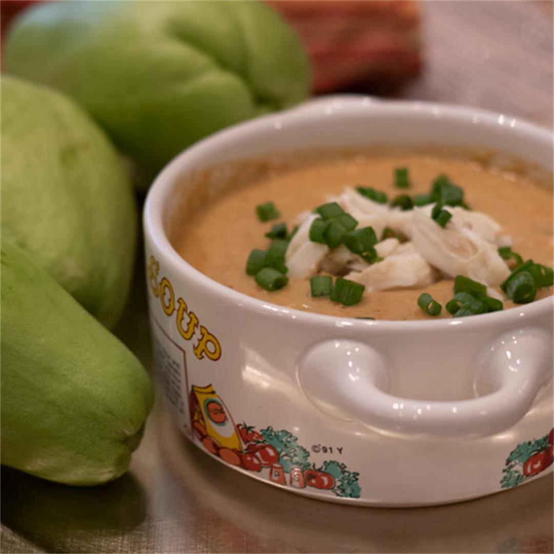 Mirliton Crab Bisque