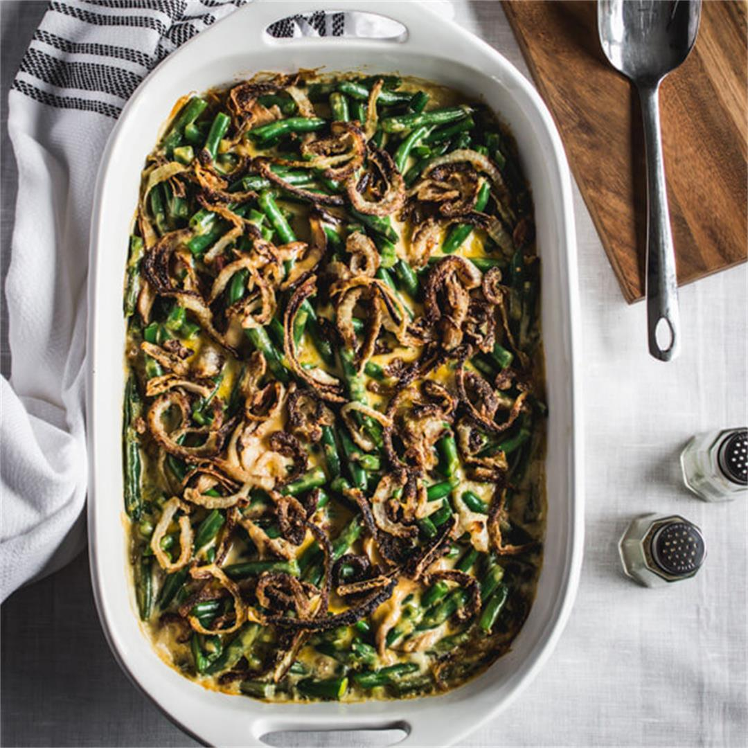 Gluten Free Cheesy Green Bean Casserole