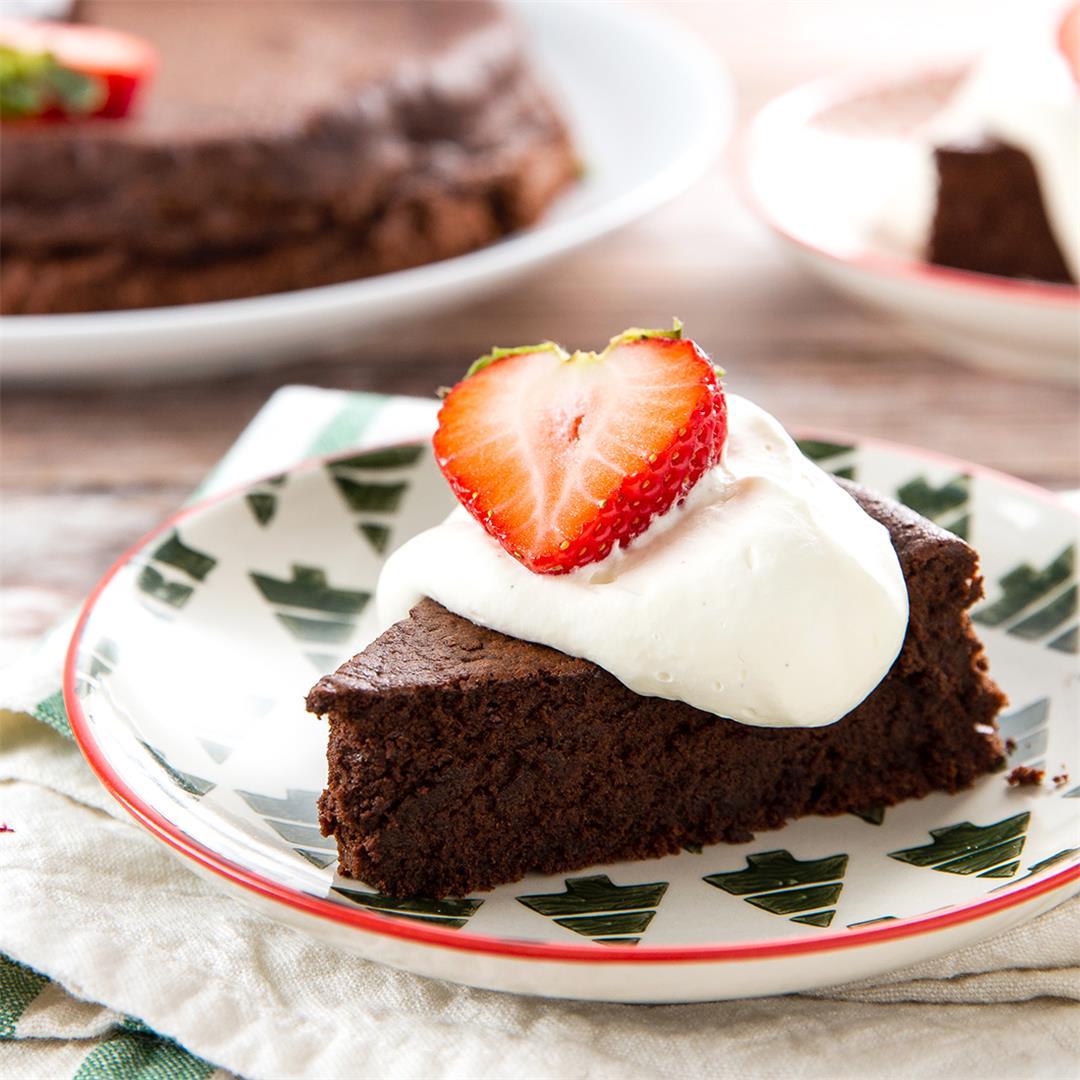 Chocolate Torte. Rich & chocolatey! Gluten free too!