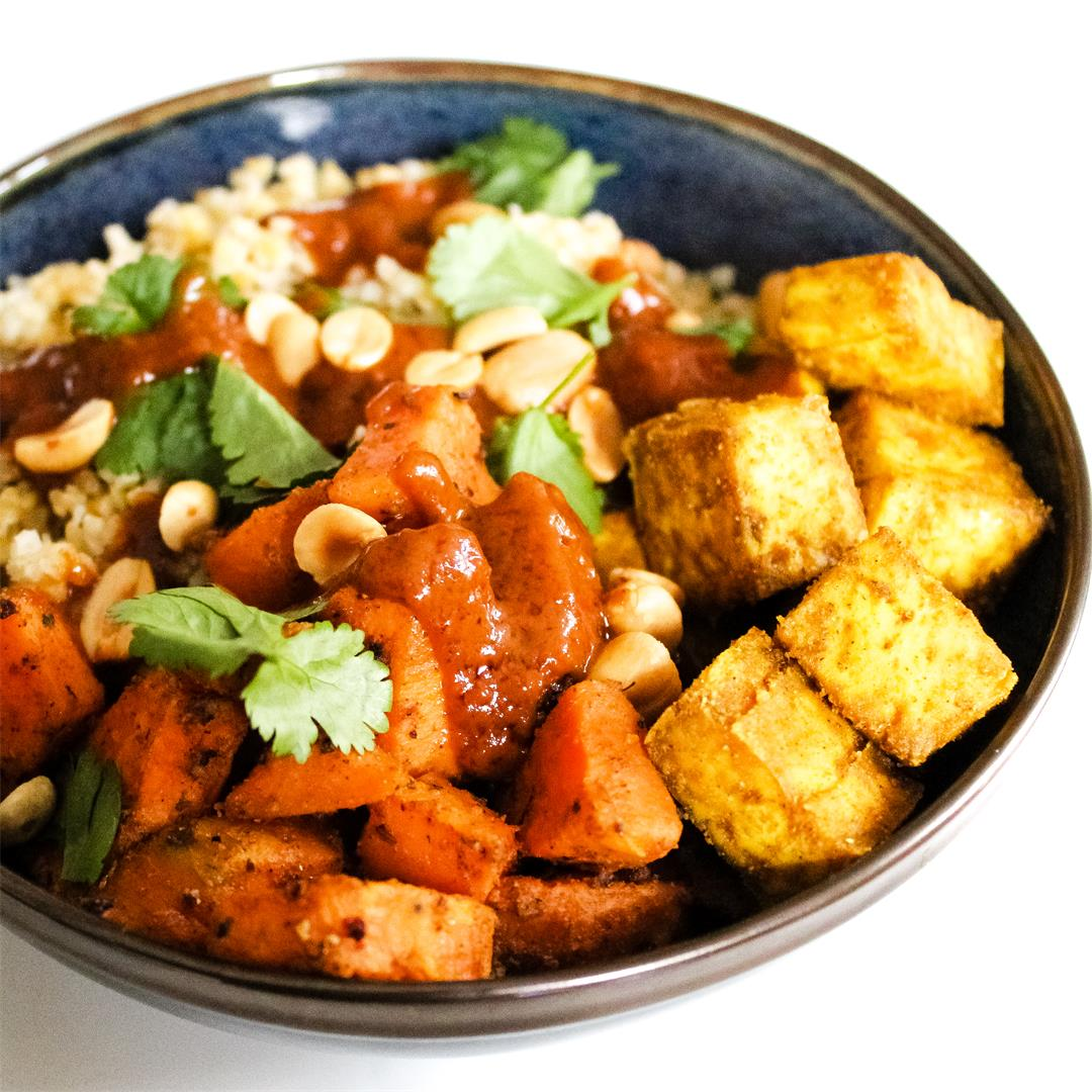 Bulgur and sweet potato bowl  Serves 4  Medium  Directions SHAR