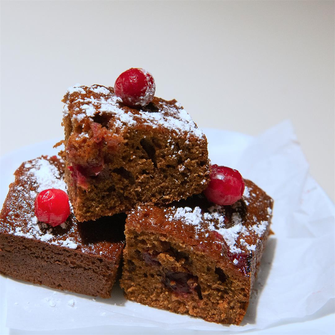 Sticky Cranberry Gingerbread