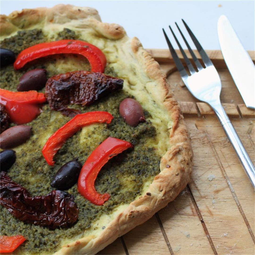 Chilli & herb vegan pizza base