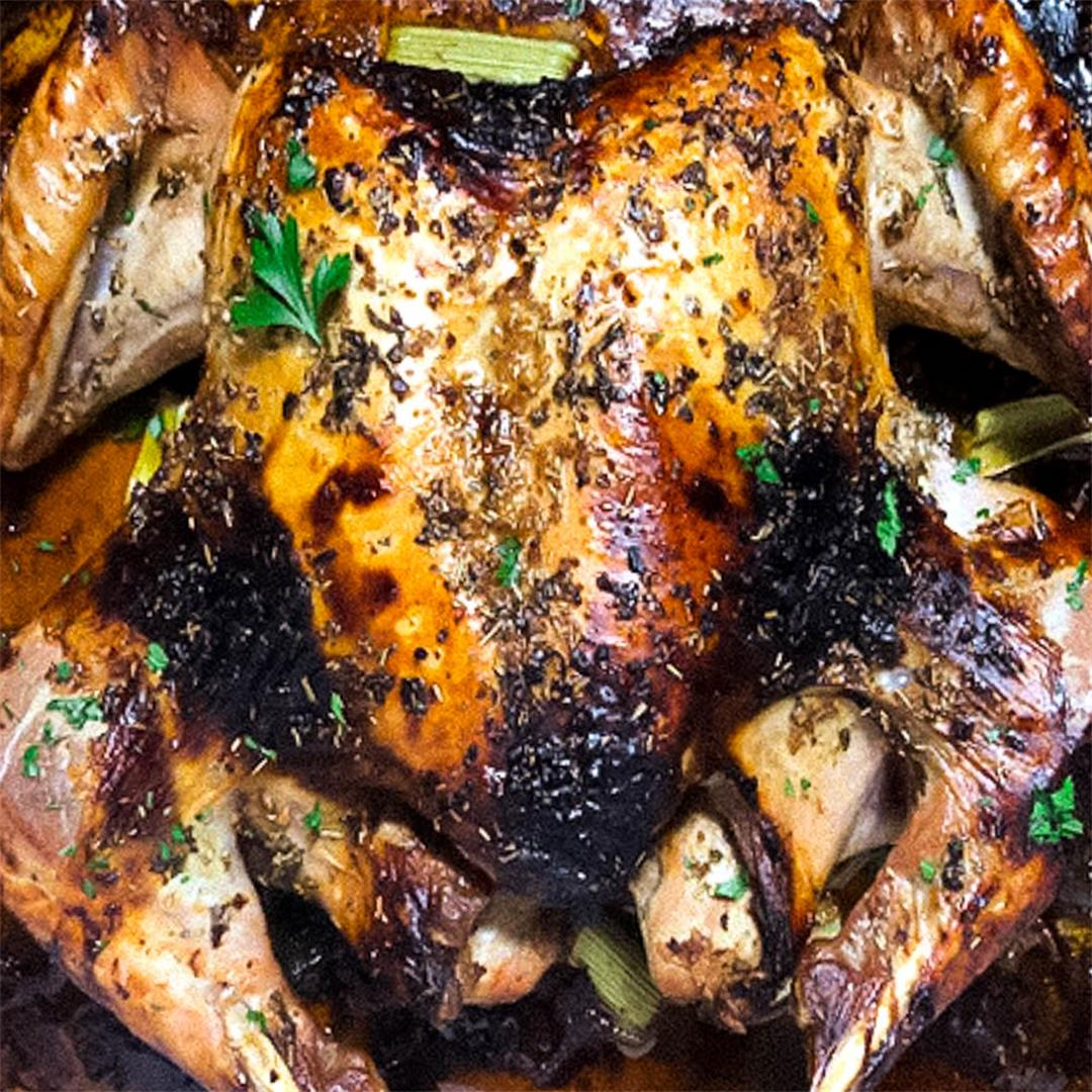 Herb-Roasted Spatchcock Turkey