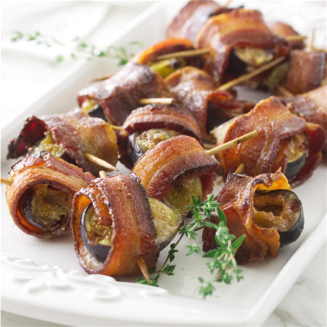 bacon wrapped stuffed figs