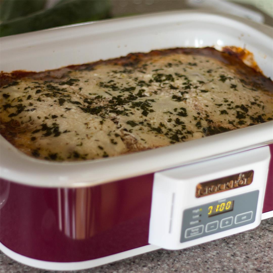 Crock Pot Beef Eggplant Casserole