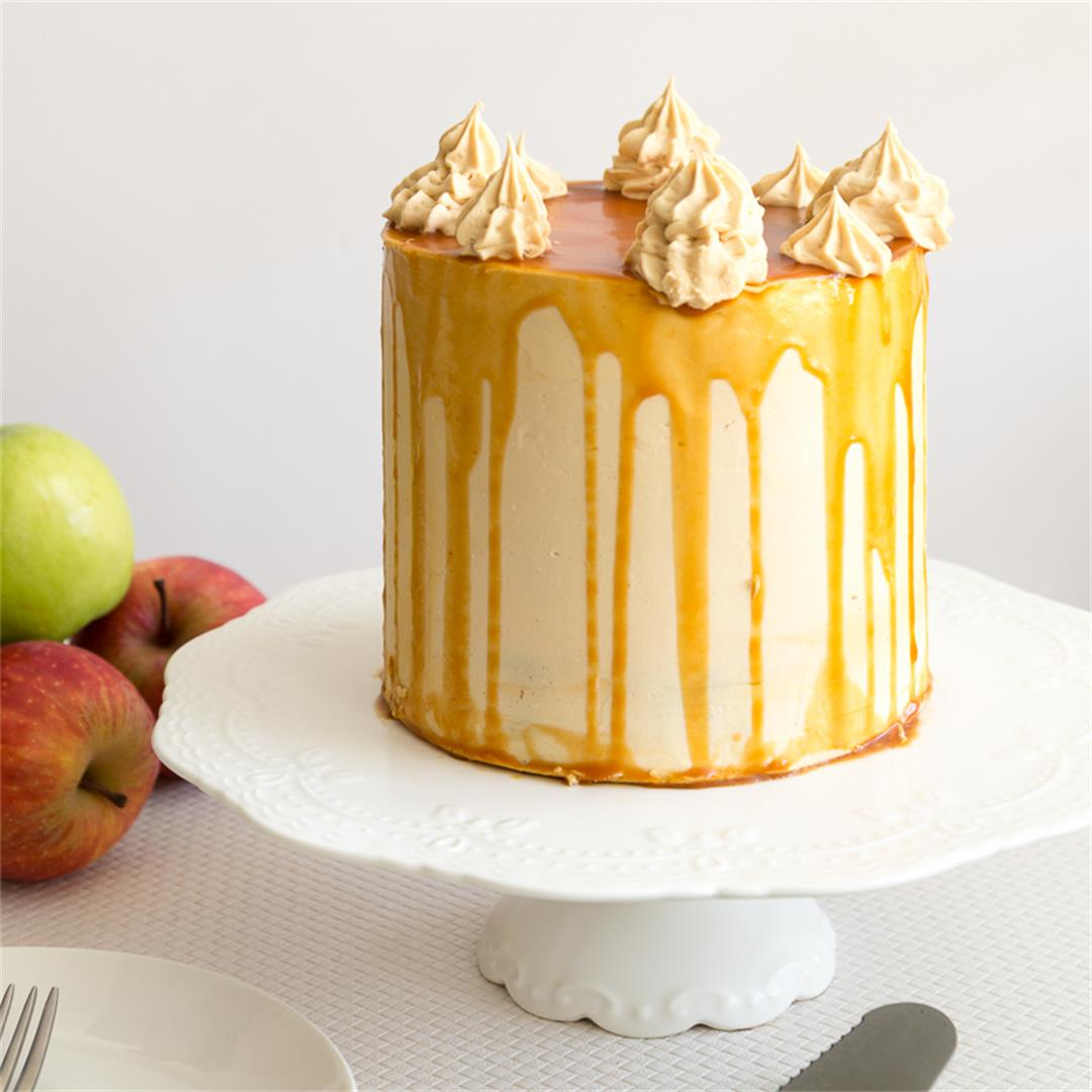 Caramel Apple Cake with Caramel Buttercream