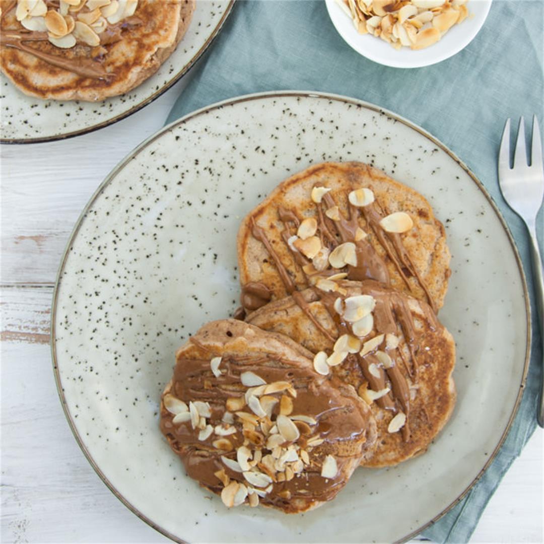 Vegan Apple Pie Pancakes
