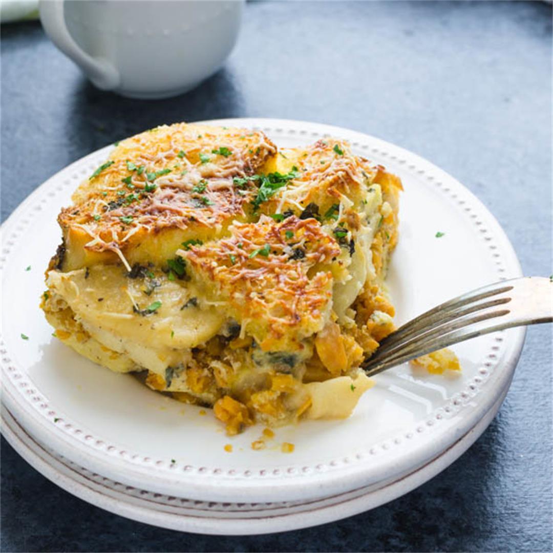 Sweet Potato Apple Breakfast Strata
