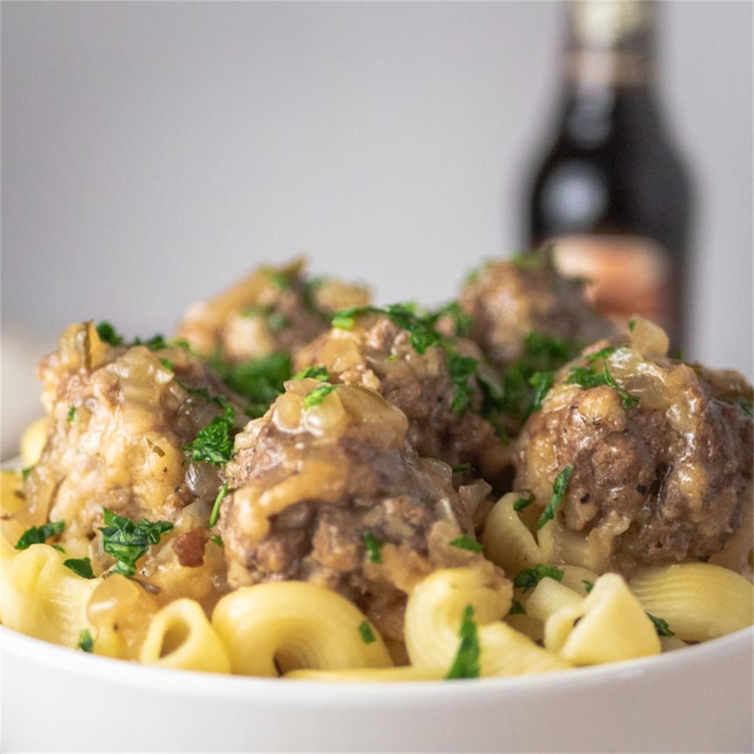 Instant Pot Salisbury Steak Meatballs.