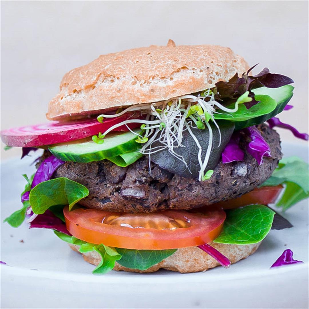 Easiest Black Bean Burgers (vegan + gf)