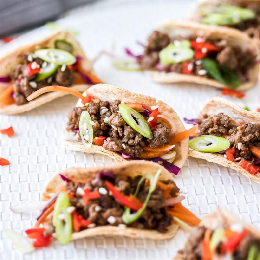 Mini Korean Beef Tacos