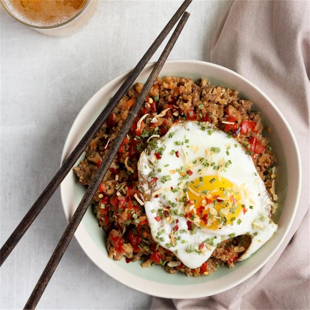 15 Minute Paleo Cauliflower Fried Rice