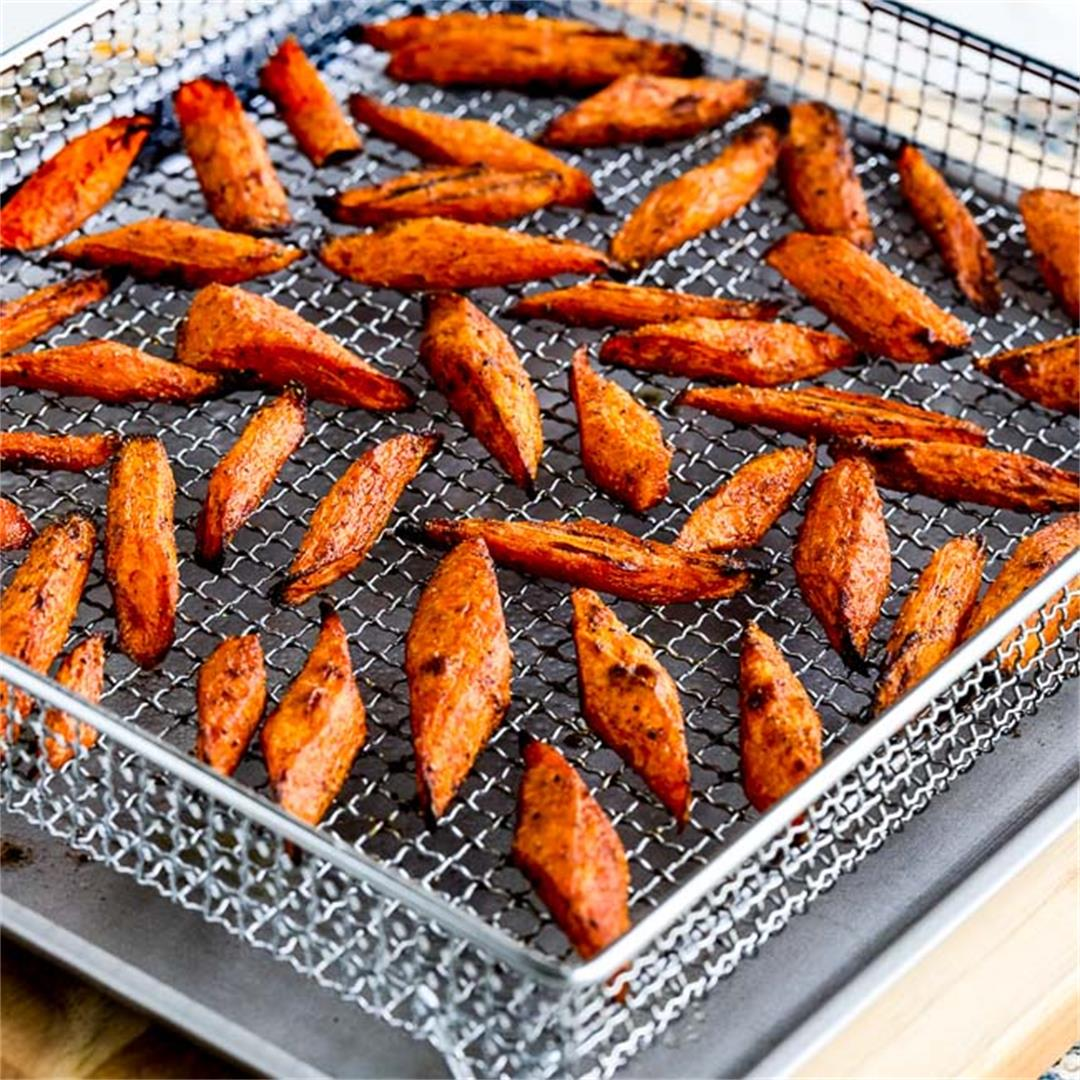 Air Fryer or Oven Roasted Carrots with Moroccan Spices