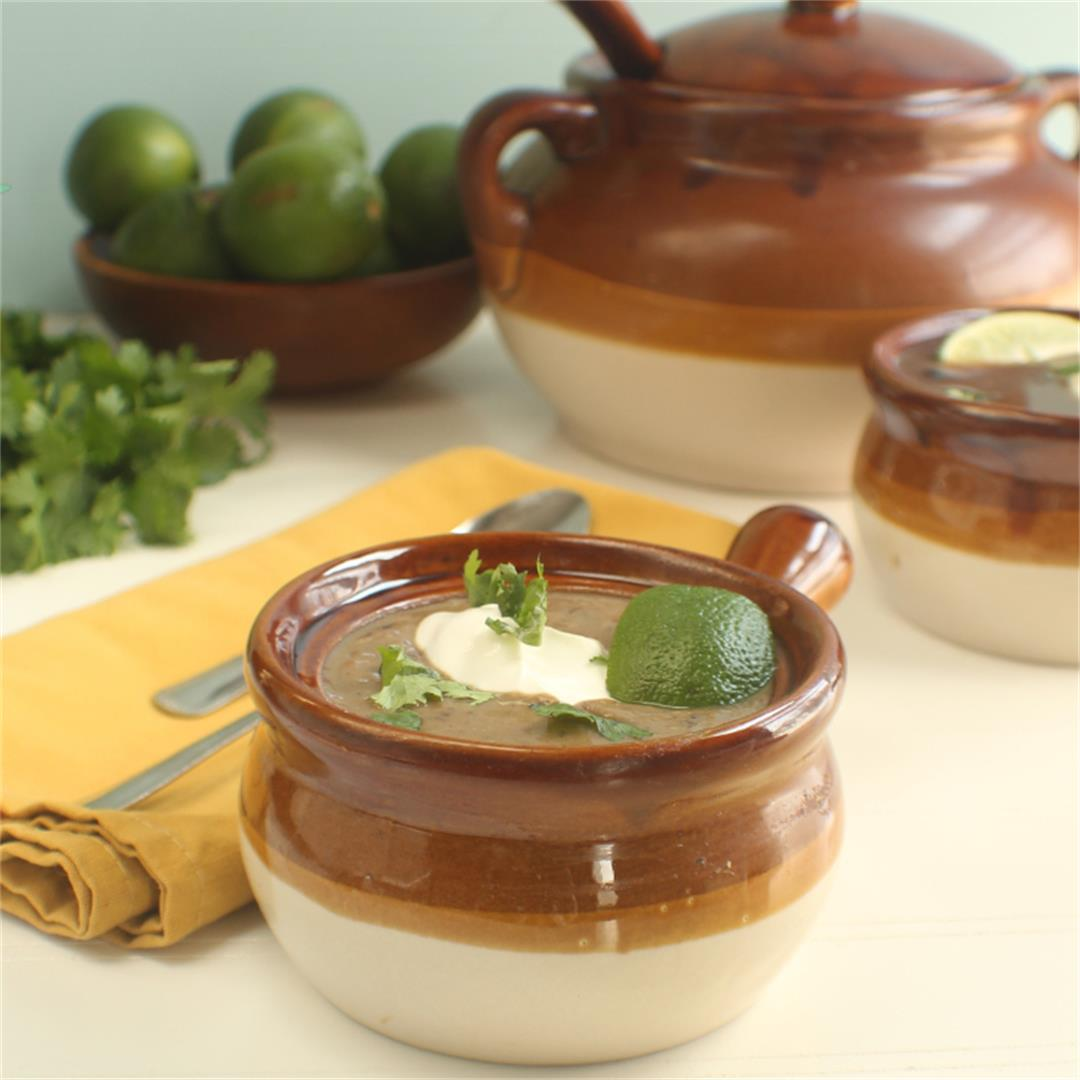 Black Bean Soup With Sweet Potato