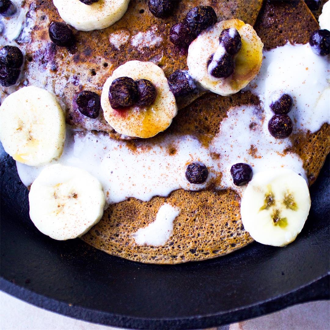 Buckwheat Maple Pancakes (vegan + gluten-free)