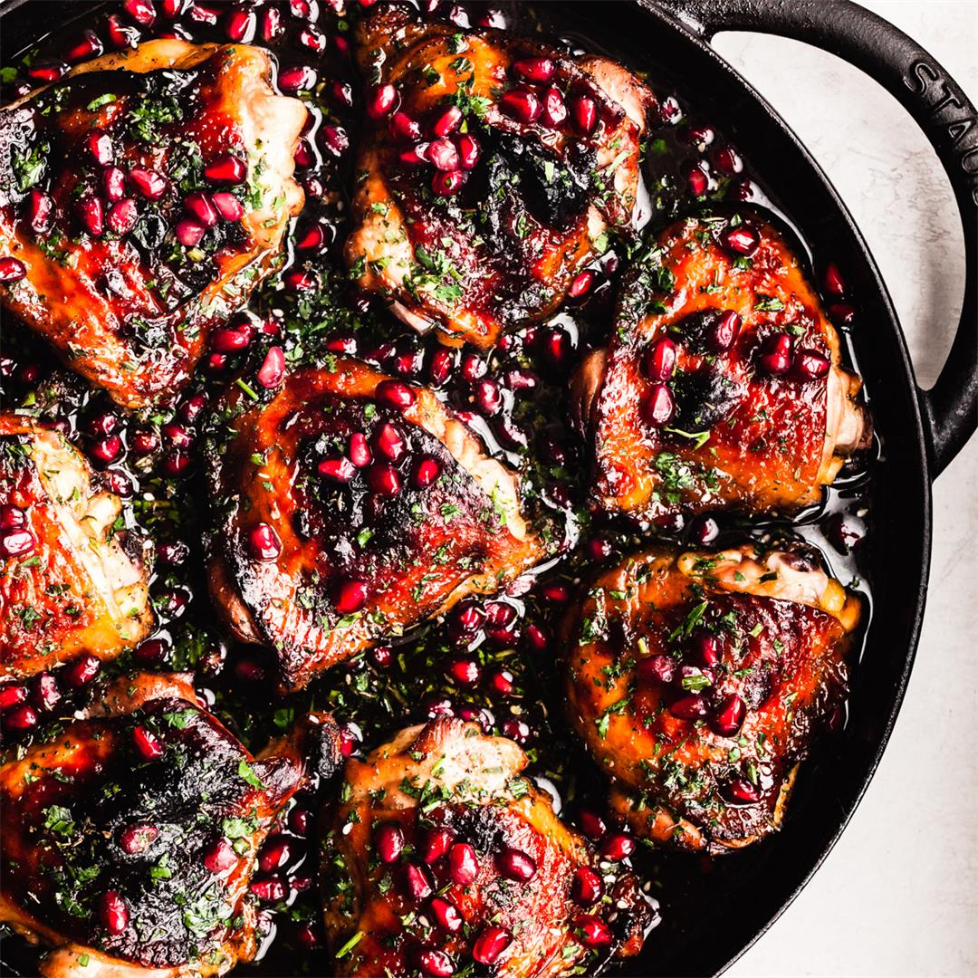 Pomegranate Skillet Chicken ~