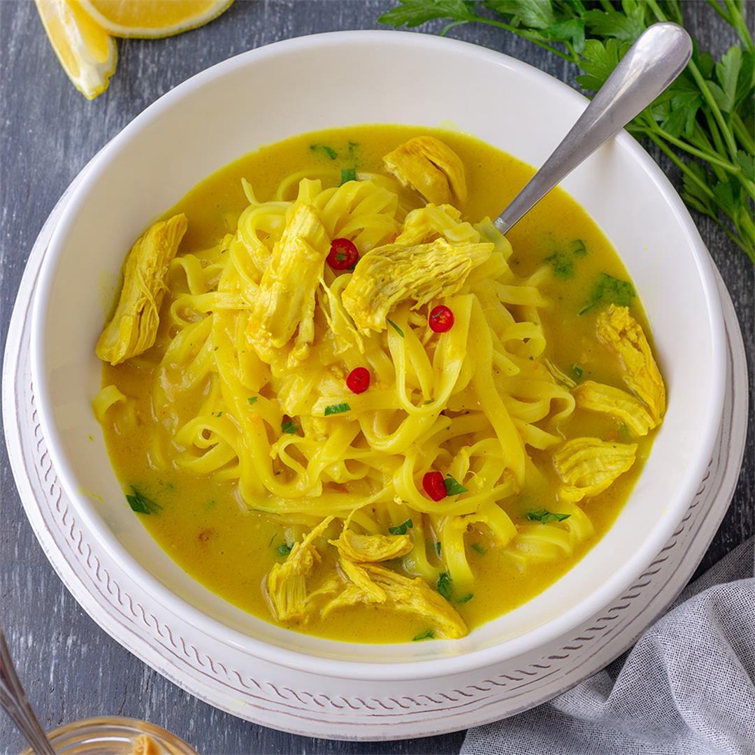 Thai Peanut Chicken Soup