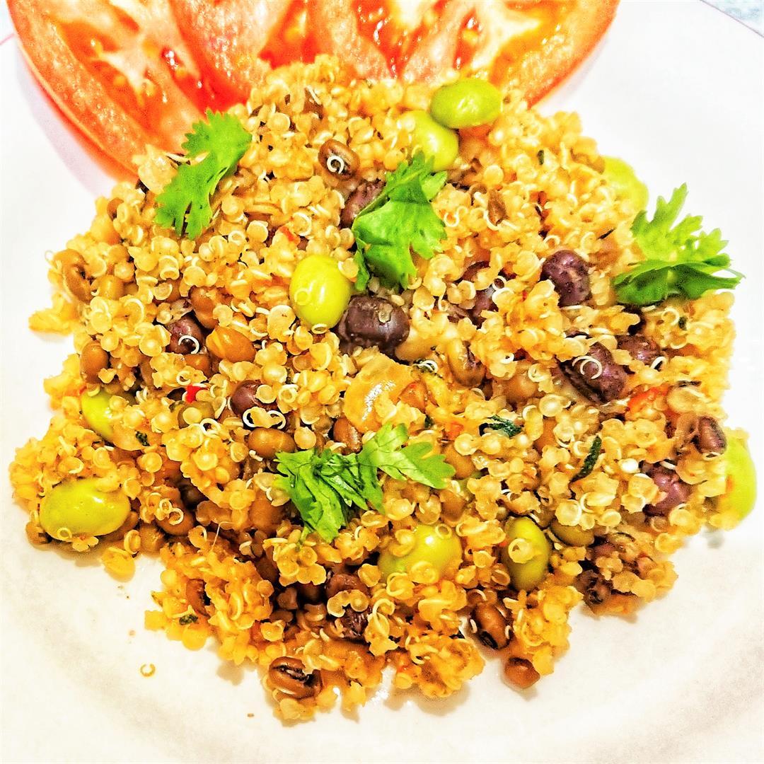 3 Bean spicy quinoa