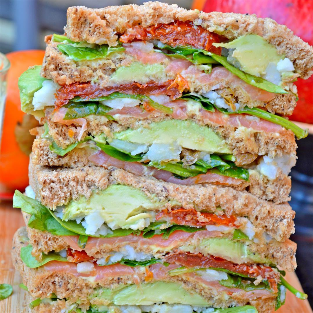 Smoked Salmon Monster Sandwich