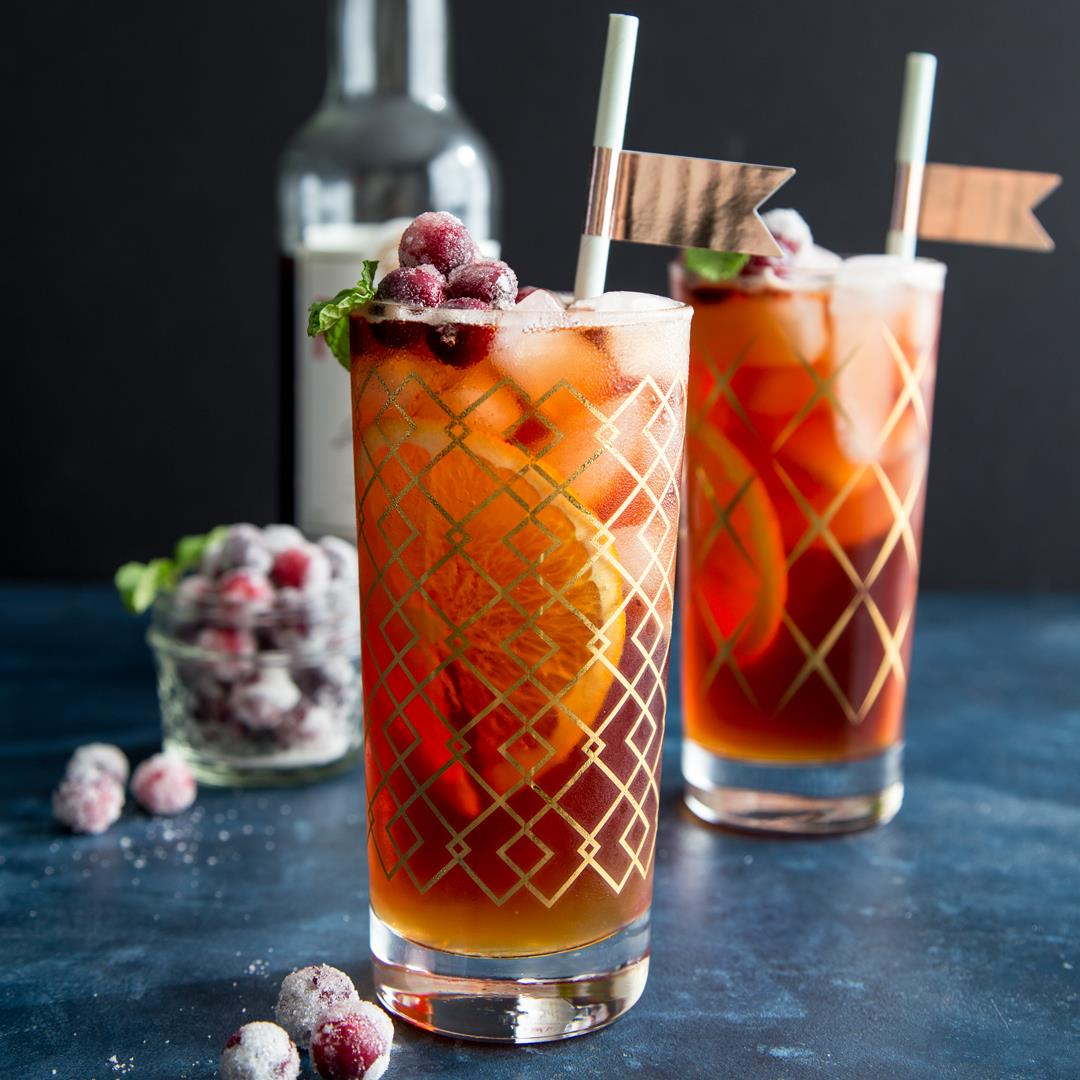 Cranberry Pimm's Cup Cocktail