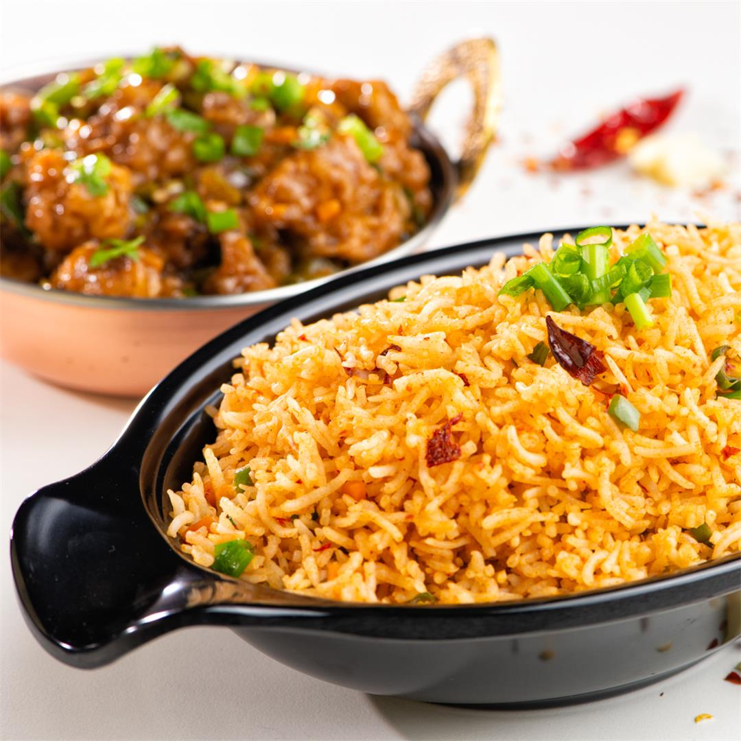 Chilli Garlic Fried Rice/ Spicy Garlic Fried Rice
