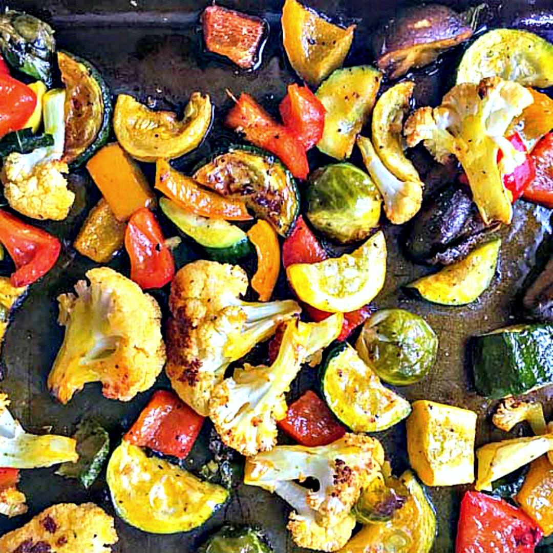Red Palm Oil Roasted Winter Vegetables