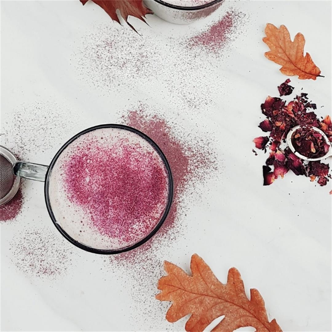 Rose Milk Tea | Rose Tea Latte