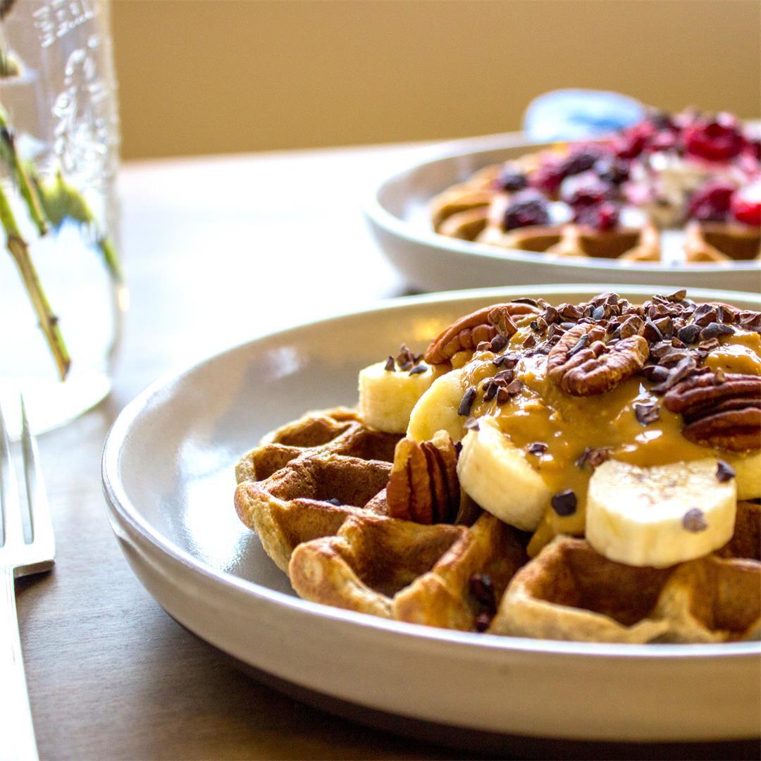 3 Ingredient Oatmeal Waffles (vegan + gf)