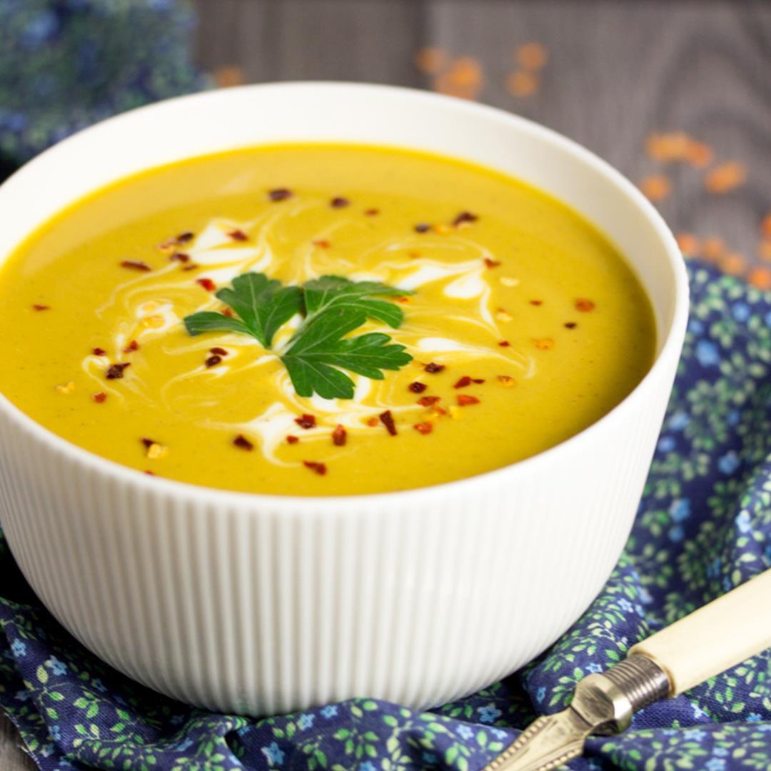 Curried Coconut Lentil Soup