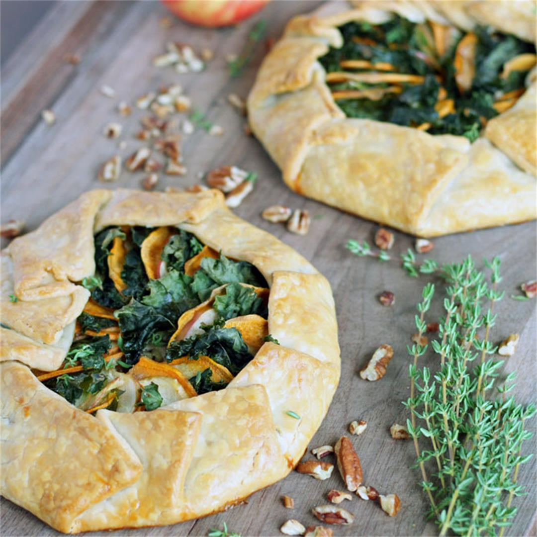 Sweet Potato, Apple & Kale Galette